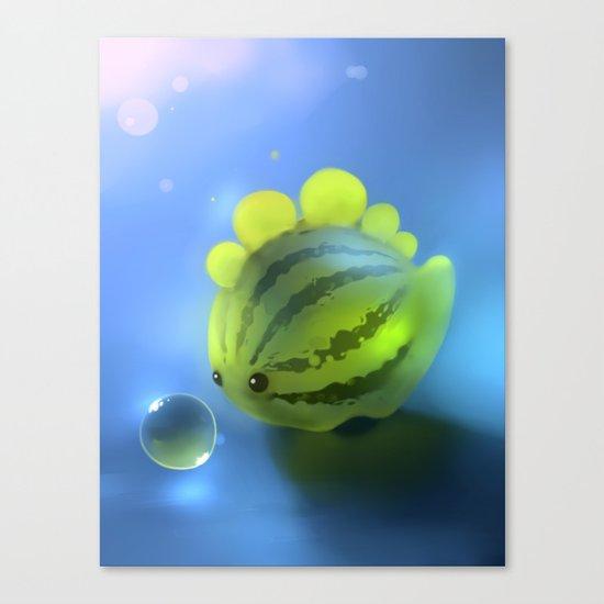 Watermelon Dino Canvas Print