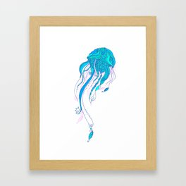 Jellyfish ornament Framed Art Print