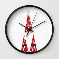 santa Wall Clocks featuring SANTA by Pardabon