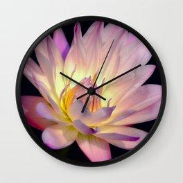 Blushing Pink Water Lily Wall Clock