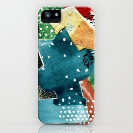 Turquoise Swirl iPhone Case