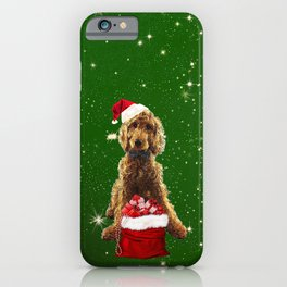 Christmas Dog Golden Doodle iPhone Case