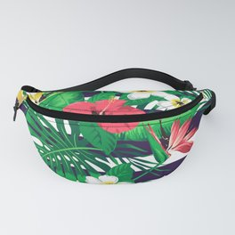 Flowers & Stripes Fanny Pack