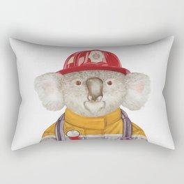 Koala Firefighter Rectangular Pillow