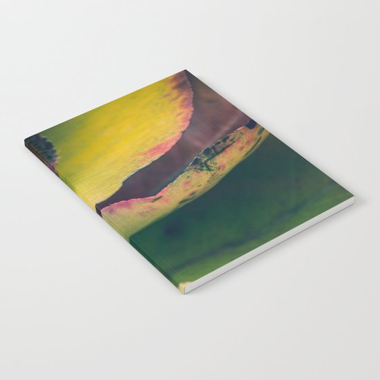 Fall Leaves II - Yellow, Lime Green, Red Purple Notebook