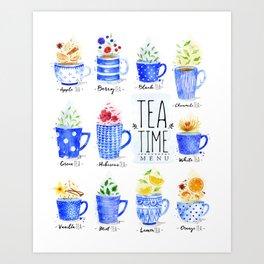 Tea Time Menu Art Print