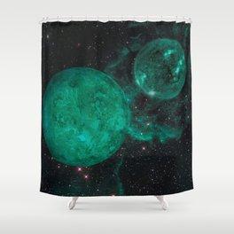 Cerulean the Wandering Star Shower Curtain