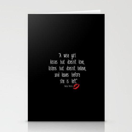 Esperantos Quotes #1 (Marilyn) Stationery Cards