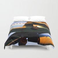 plane Duvet Covers featuring Plane by Luc Girouard
