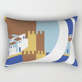 Come to the islands retro travel Rectangular Pillow
