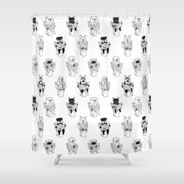 Morning Constitutional Shower Curtain