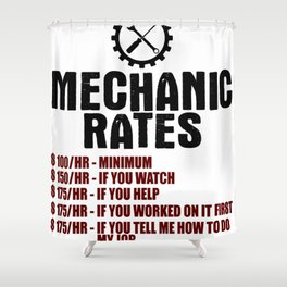 Funny Mechanic  Shower Curtain