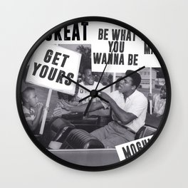 The Champ is Here! Wall Clock