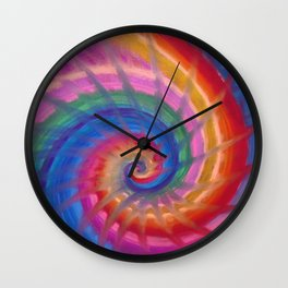 Spring into action with colour spirals Wall Clock