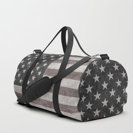 USA flag on hand painted canvas texture Duffle Bag