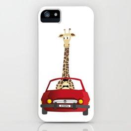 Giraffe in a Car iPhone Case