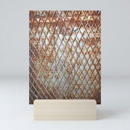 Rusty Grate Mini Art Print