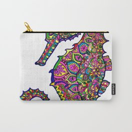 Seahorse colourful mandala Carry-All Pouch