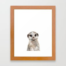 Little Meerkat Framed Art Print