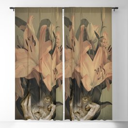 The face of fowers Blackout Curtain