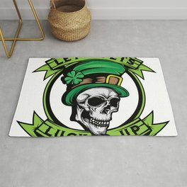 """This St. Patrick's """"Let's Get Lucked Up"""" Four-leaf Clover Tee T-shirt Design Irish Celebrate Party Rug"""
