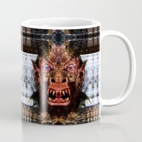 animal crew Mugs featuring Animal by Zandonai