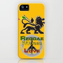 Reggae, Music & Love iPhone Case