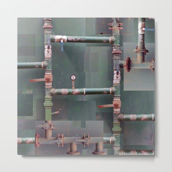 Industrial veins Metal Print