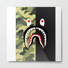 bape shark army Metal Print