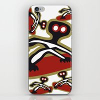 snowboard iPhone & iPod Skins featuring snow, snowboard, mountain, montagna, tavola by Caiocomix