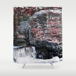 Mission Dam in the Fall Shower Curtain