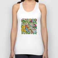 floral pattern Tank Tops featuring Floral pattern by Matt Johnstone