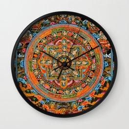 Mandala Buddhist 12 Wall Clock