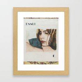 E is for Ennui Framed Art Print
