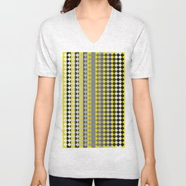 Lines and Squares Unisex V-Neck
