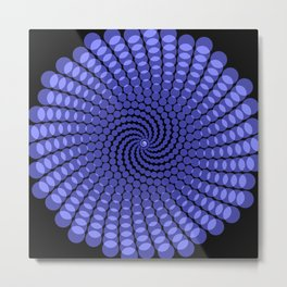 more blue spirals Metal Print