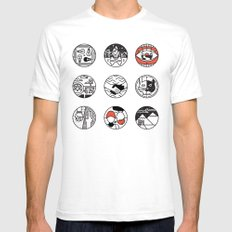 blurry icons SMALL Mens Fitted Tee White