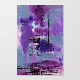 Purple Explosion Canvas Print
