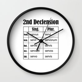 Latin Language Declension Laton Teacher Student  Wall Clock