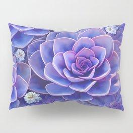 """""""Bouquet of pastel violet exotic succulents"""" Pillow Sham"""