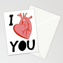 I Love You (white) Stationery Cards