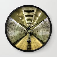 velvet underground Wall Clocks featuring Underground by Svetlana Sewell