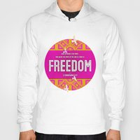 freedom Hoodies featuring Freedom by Peter Gross