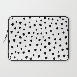 Dalmatian dots black Laptop Sleeve