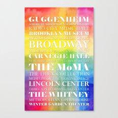 New York Arts - white dropshadow Canvas Print