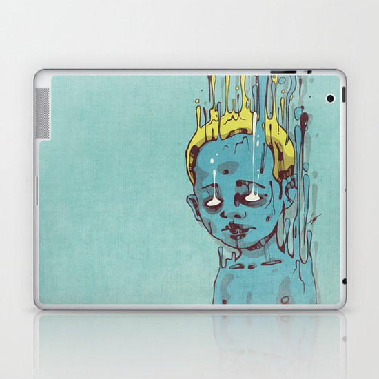 The Blue Boy with Golden Hair Laptop & iPad Skin