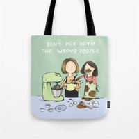 baking Tote Bags featuring Baking Advice by Sophie Corrigan
