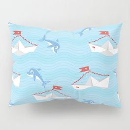 paper boat Pillow Sham