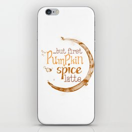 But First Pumpkin Spice Latte - Coffee Ring iPhone Skin