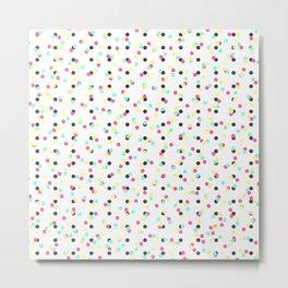 Retro 80's 90's Inspired Colorful Polka Dots Metal Print